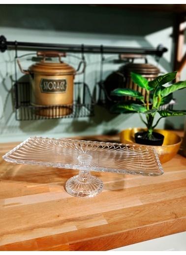 The Mia Cam Dikdrtgen Pasta & Kek Servisi 17 x 38 Cm Renksiz